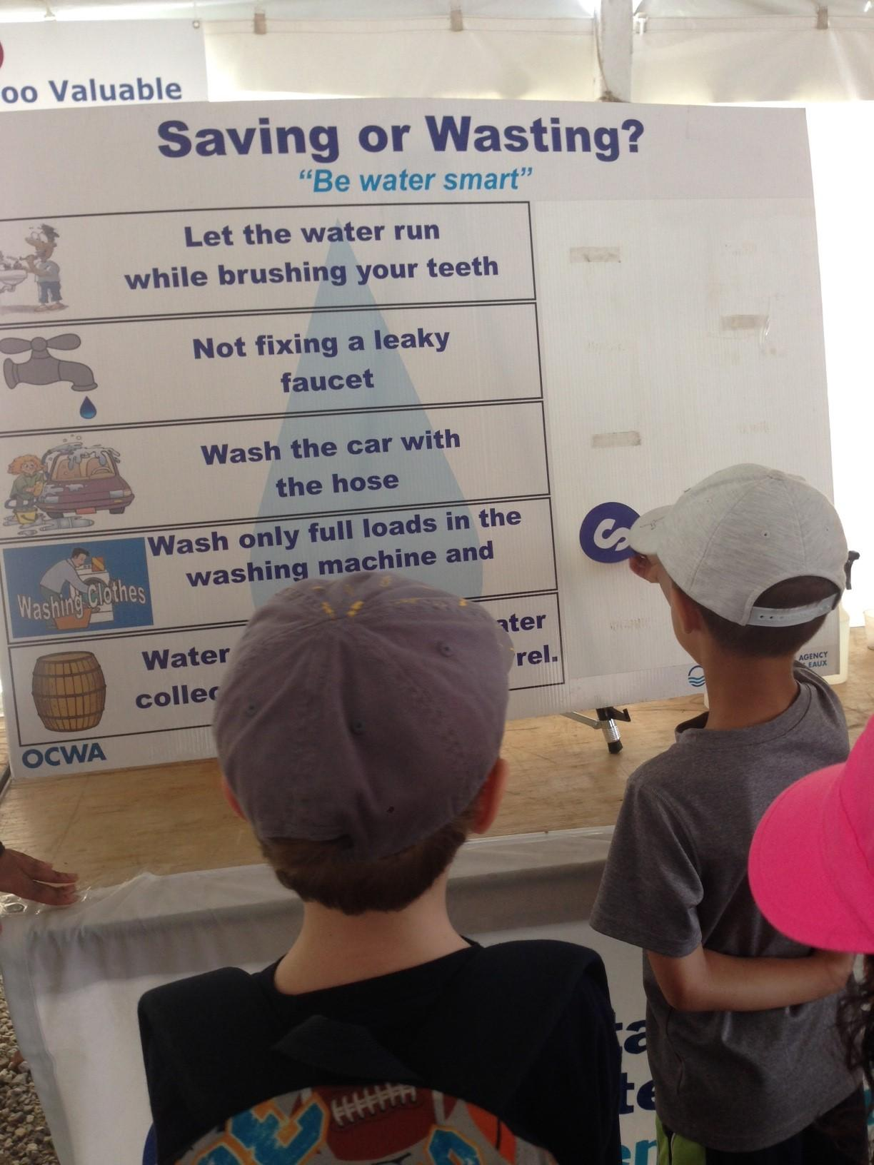 Kids do activities at Water Festival